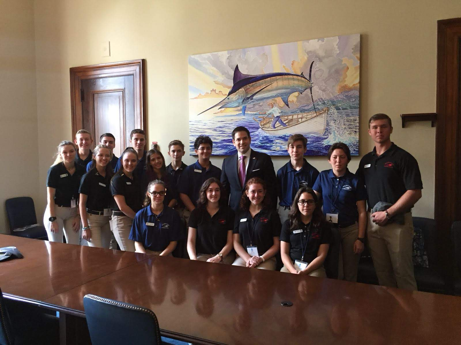 Group shot with Senator Marco Rubio