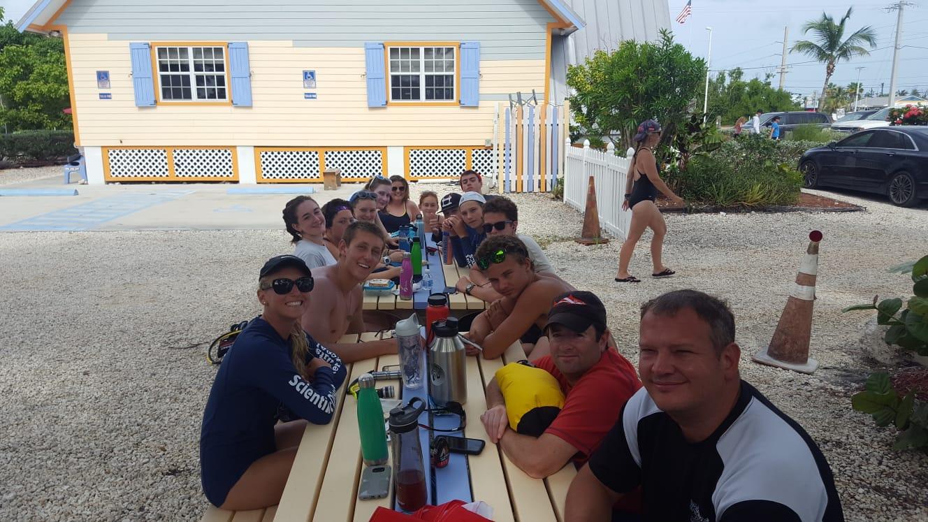 Naut family dinner courtesy of Captain Hooks!