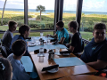 Dive Group 2 from our trip enjoyed lunch as Group 1 battled the surf.