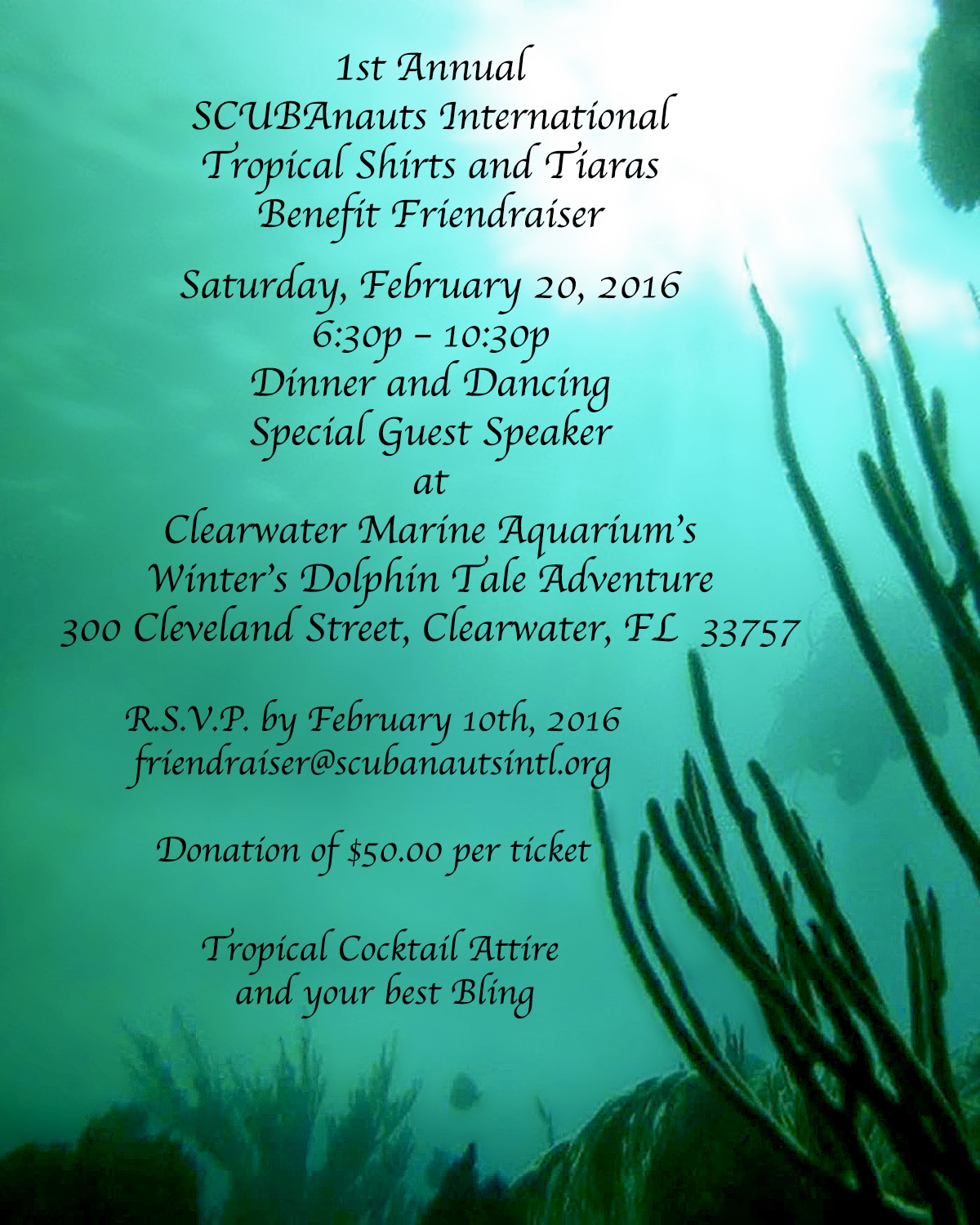 The 1st Annual Tropical Shirts and Tiaras Benefit Friendraiser!