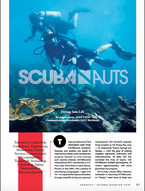 SCUBAnauts featured in NAUI Magazine