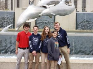 Group of five nauts at Florida State Capitol for Ocean Day 2020